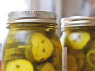 15 Minute Sweet Pickles found on PunkDomestics.com