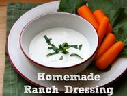 Homemade Ranch Dressing found on PunkDomestics.com