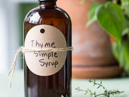 Thyme Simple Syrup found on PunkDomestics.com
