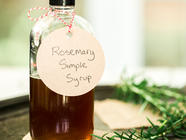 Rosemary Simple Syrup found on PunkDomestics.com