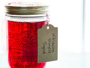 Hibiscus Simple Syrup found on PunkDomestics.com