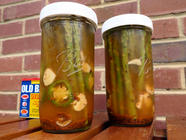 Old Bay Pickled Asparagus found on PunkDomestics.com