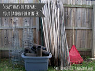 5 Easy Ways to Prepare Your Garden for Winter found on PunkDomestics.com