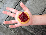 Cherry Peach Freezer Jam found on PunkDomestics.com