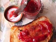 Rhubarb–Strawberry Jam found on PunkDomestics.com