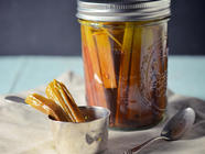 Indian-Style Sweet and Sour Rhubarb Pickles found on PunkDomestics.com