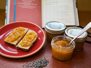 Honey Sweetened Apricot Lavender Butter found on PunkDomestics.com