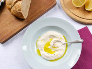 Smoky Eggplant-Yogurt Dip with Lemon