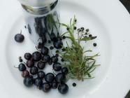 Black Currant Jam with Peppercorns & Rosemary