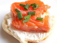 Home-Cured Salmon.  With Bagels.