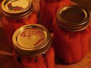 Spicy Pickled Carrots Recipe found on PunkDomestics.com