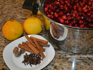 Spiced Cranberries with Pecans or Walnuts