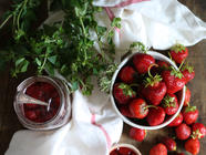 Honey Strawberry Jam with Herbs and Balsamic found on PunkDomestics.com