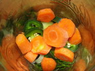 Pickled Carrots, Jalapeno with Leeks