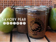 Savory Pear Chutney found on PunkDomestics.com