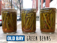 Old Bay Pickled Green Beans found on PunkDomestics.com