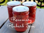 Rosemary Rhubarb Jam found on PunkDomestics.com