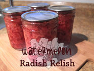 Watermelon Radish Relish found on PunkDomestics.com