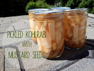 Pickled Kohlrabi with Mustard Seeds found on PunkDomestics.com