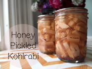 Honey Pickled Kohlrabi found on PunkDomestics.com