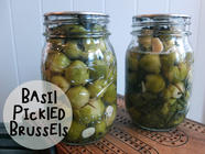Basil Pickled Brussels Sprouts found on PunkDomestics.com