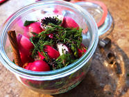 Quick Pickled Radishes found on PunkDomestics.com