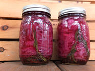 Red Hot Pickled Onions found on PunkDomestics.com