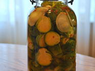 Brine Pickled Brussels Sprouts