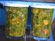 Peach Hatch Green Chile Salsa