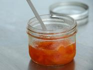Lemon Basil Nectarine Preserves
