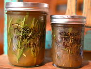 Methods of Preserving Herbs - Infused Vinegar found on PunkDomestics.com