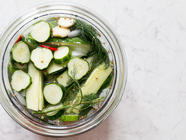 How to Quick Pickle Cucumbers found on PunkDomestics.com