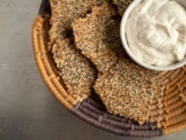 Everything Bagel Flax Crackers  found on PunkDomestics.com