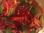 Crunchy Cucumber Kimchi or Kimchee found on PunkDomestics.com