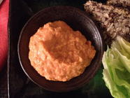 Roasted Red Pepper Hummus found on PunkDomestics.com