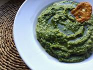 Raw Spinach Guacamole Spread/Dip
