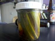 Beer Brined Pickles
