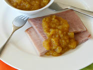 Quick Curried Pineapple Sauce for Ham found on PunkDomestics.com
