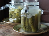 Fermented Dill Cucumber Pickles found on PunkDomestics.com