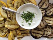 Lemon Mint Yogurt Dip with Grilled Veggies found on PunkDomestics.com