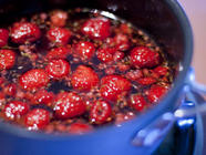 Cherry Plum Jam and Raspberry Lime Syrup