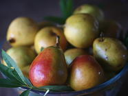 Canned Seckel Pears In Spiced Red Wine Syrup