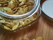 Super Easy, Curried Pumpkin Seeds  found on PunkDomestics.com