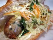 Goi Ga Sausage Sandwich found on PunkDomestics.com