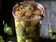 Pickled Green Strawberries found on PunkDomestics.com