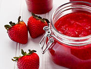 Strawberry Freezer Jam with Moscato found on PunkDomestics.com
