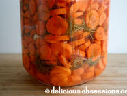 Lactofermented Garlic and Dill Carrots