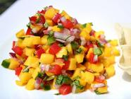 Fresh Flavorful Mango Salsa found on PunkDomestics.com