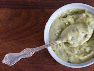 Homemade Mustard, Garlic & Basil Mayonnaise found on PunkDomestics.com