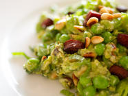 Broad Bean and Hungarian Salami Salad found on PunkDomestics.com